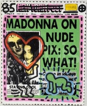 Andy Warhol e Keith Haring Madonna Sean-Penn